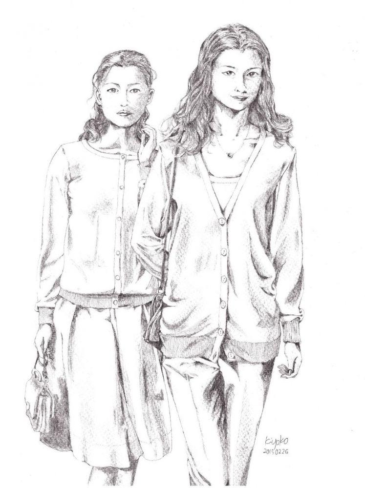 women in cardigan