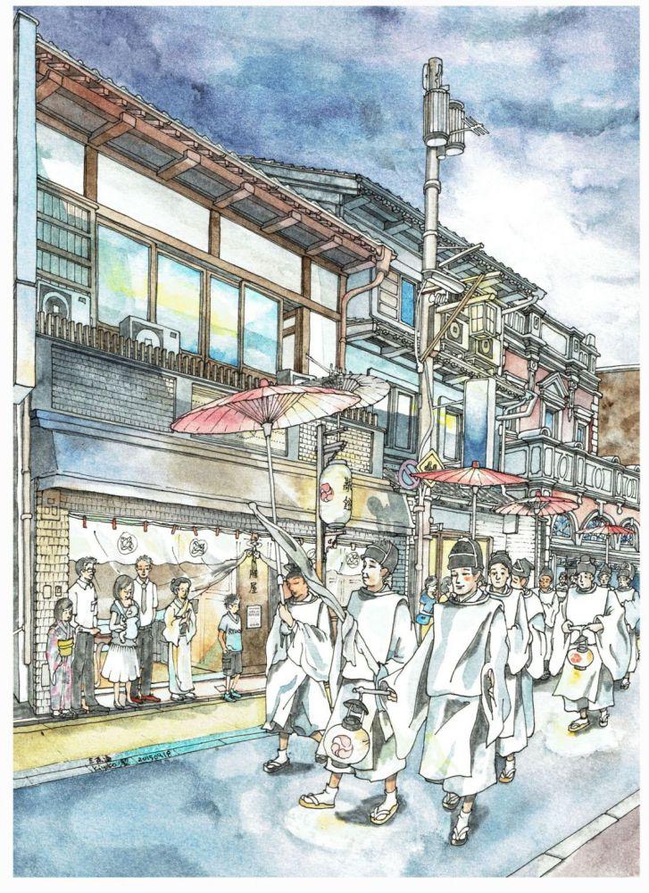 Kanko-sai, Gion Festival, Sanjo-dori, Kyoto