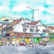 Chinese pharmacy shophouse