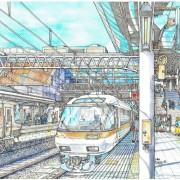 特急ひだ 京都駅0番乗り場